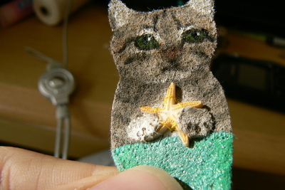 How to sew a fabric animal brooch. Mer Cat Brooch - Step 4