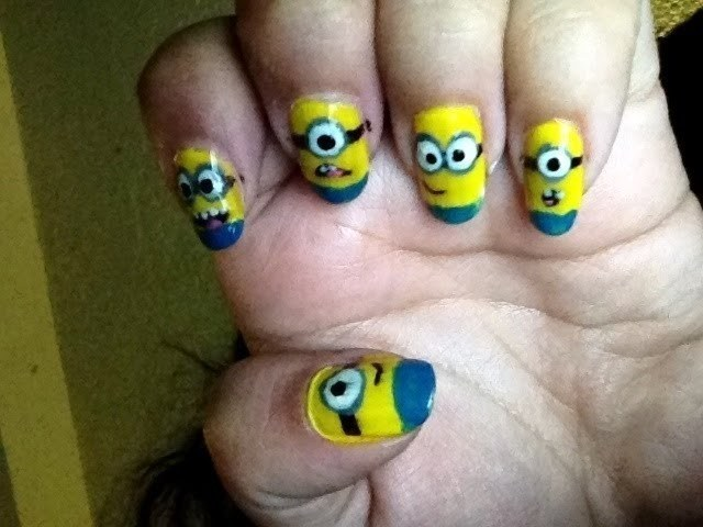 Despicable Me Minions Nail Art How To Paint A Character Nail