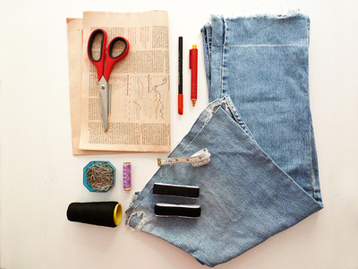 How to make a recycled top. Diy Crop Top   Recycling Old Jeans Legs - Step 1