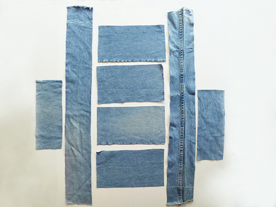 How to make a recycled top. Diy Crop Top   Recycling Old Jeans Legs - Step 3