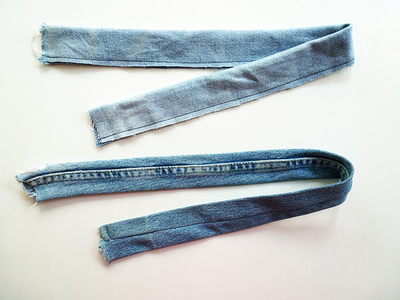 How to make a recycled top. Diy Crop Top   Recycling Old Jeans Legs - Step 4