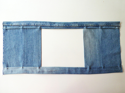 How to make a recycled top. Diy Crop Top   Recycling Old Jeans Legs - Step 7