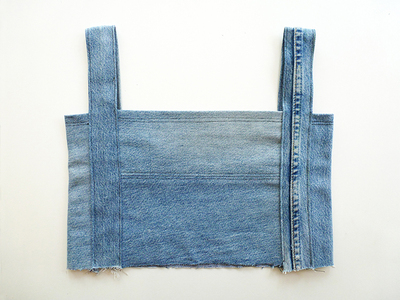 How to make a recycled top. Diy Crop Top   Recycling Old Jeans Legs - Step 8