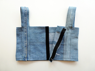 How to make a recycled top. Diy Crop Top   Recycling Old Jeans Legs - Step 10