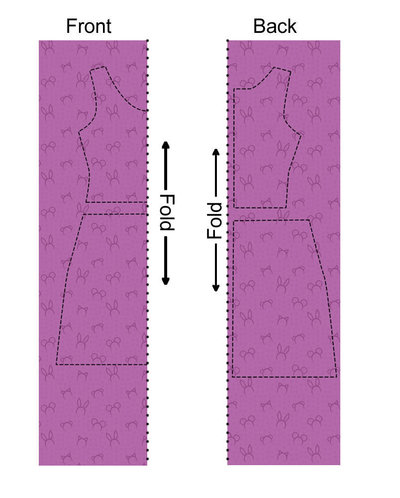 How to sew a hand sewn dress. Animal Ear Dress - Step 1