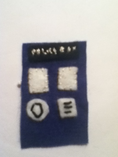 How to sew a fabric character charm. Tardis Keychain - Step 3