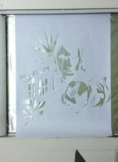 How to make a window cling. Window Foil Art Work - Step 5