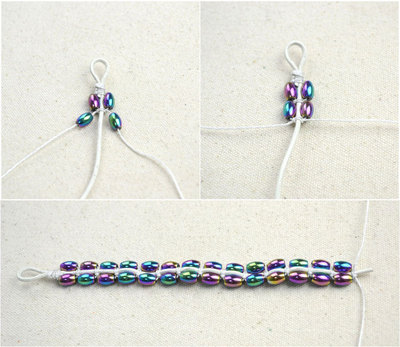How to make a bracelet with string and beads