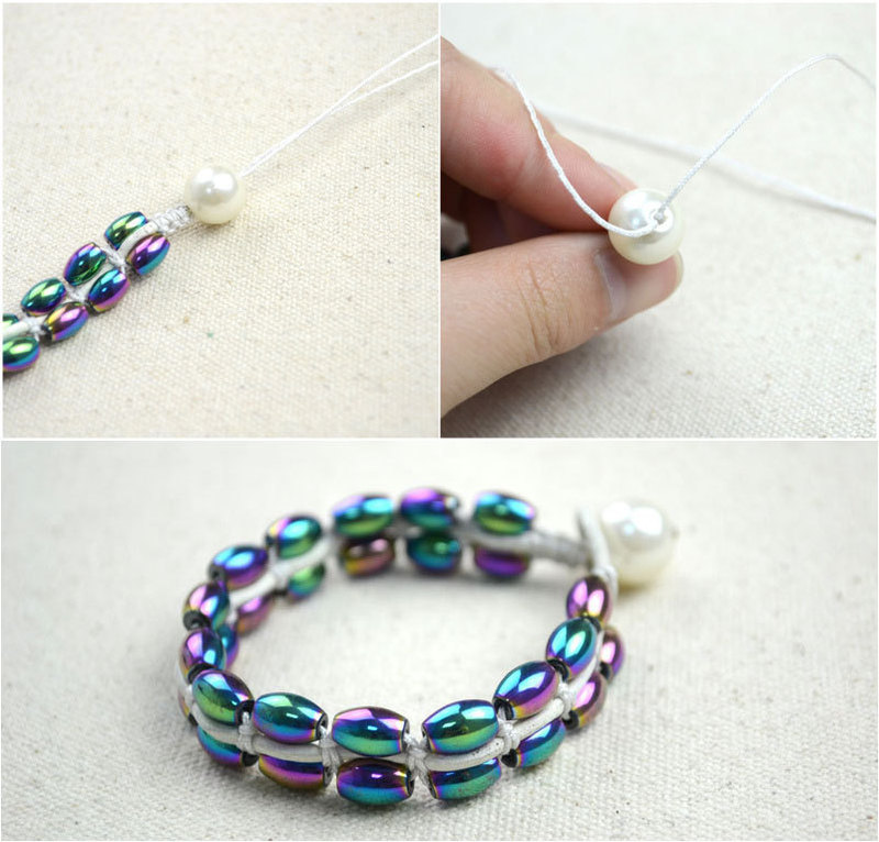 how to make a bracelet out of string and beads