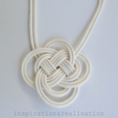 How to braid a necklace. Anthropologie Inspired Dip Dyed Knot Necklace - Step 3