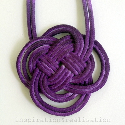 How to braid a necklace. Anthropologie Inspired Dip Dyed Knot Necklace - Step 6