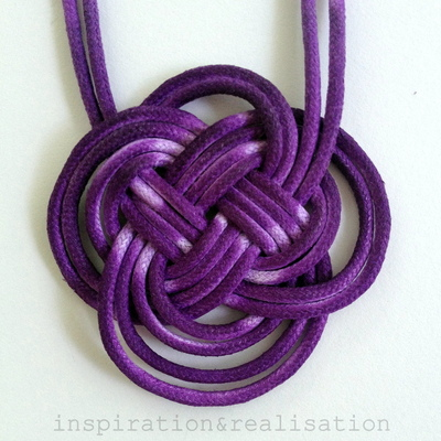 How to braid a necklace. Anthropologie Inspired Dip Dyed Knot Necklace - Step 7