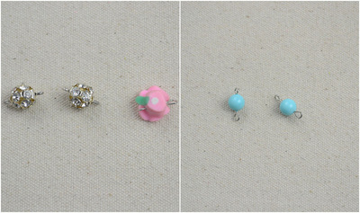 How to make a pearl necklace. Ivory Pearls Necklace Adorned By Flower And Turquoise  - Step 4