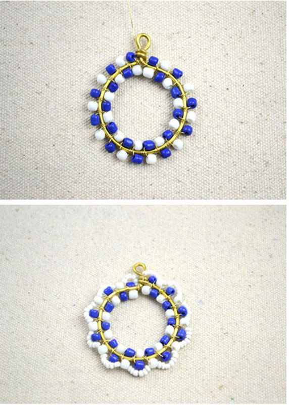 How to make necklace patterns with beads how to make a beaded how to make a beaded pendant how to make necklace patterns with beads step aloadofball Image collections