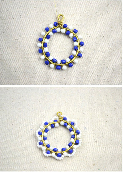 How to make a beaded pendant. How To Make Necklace Patterns With Beads - Step 5