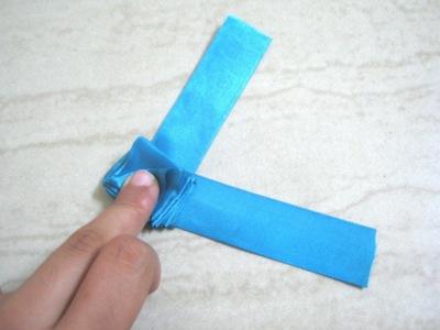How to make a fabric bracelet. Satin Ribbon Rose - Step 7