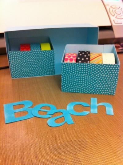 How to embellish a shell box. Beachy Keen Washi Tape Storage Box - Step 4