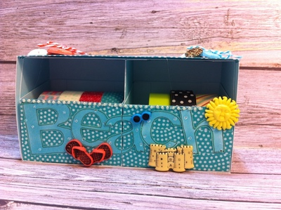 How to embellish a shell box. Beachy Keen Washi Tape Storage Box - Step 5