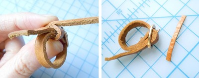 How to make a leather ring. Mini Leather Belt Ring - Step 10