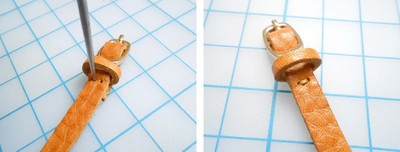How to make a leather ring. Mini Leather Belt Ring - Step 13