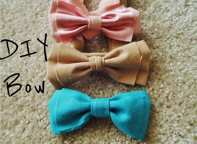 How to make a bow belt. Hair Bow And Bow Belt - Step 2
