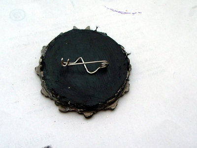 How to make a cameo. Elegant Lace Frame Brooch - Step 8