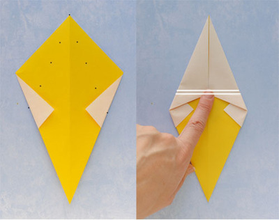 How to fold an origami food. Origami Ice Cream Cone - Step 3