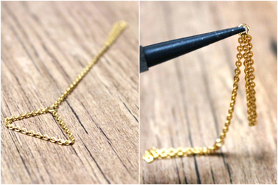 How to make a chain ring. Diy Ring - Step 2