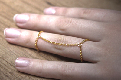How to make a chain ring. Diy Ring - Step 3