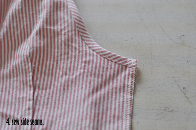 How to make a button-up top. Cropped Button Down Refashion - Step 6