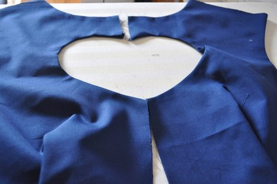 How to make a cut-out dress. Heart Cut Out Dress Tutorial - Step 7