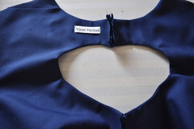 How to make a cut-out dress. Heart Cut Out Dress Tutorial - Step 9