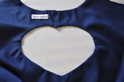 How to make a cut-out dress. Heart Cut Out Dress Tutorial - Step 11
