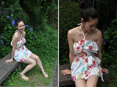 How to make a strapless dress. Tube Sun Dress - Step 1