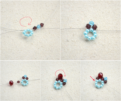 How to make a beaded pendant. Beaded Jewellery Designs An Adorable Necklace With Handmade Charms - Step 3