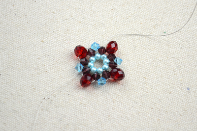 How to make a beaded pendant. Beaded Jewellery Designs An Adorable Necklace With Handmade Charms - Step 4