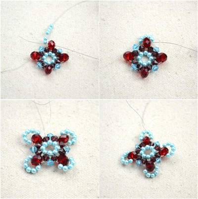 How to make a beaded pendant. Beaded Jewellery Designs An Adorable Necklace With Handmade Charms - Step 5