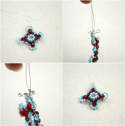 How to make a beaded pendant. Beaded Jewellery Designs An Adorable Necklace With Handmade Charms - Step 6