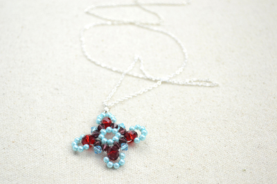 How to make a beaded pendant. Beaded Jewellery Designs An Adorable Necklace With Handmade Charms - Step 7