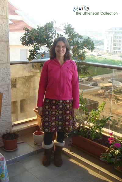 How to sew a gathered skirt. Simple Fleece Skirt With Elastic Waist - Step 1