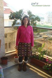 Small easy fleece skirt