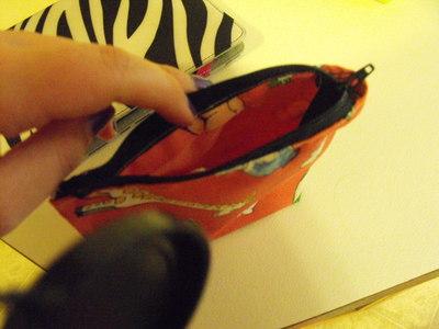How to make a zipper pouch. Mini Pouch - Step 4