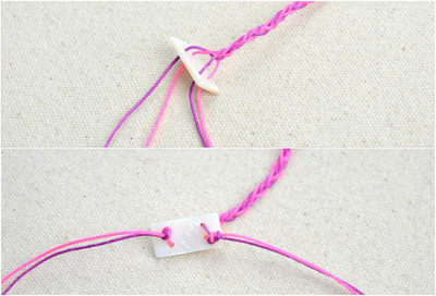 How to braid a braided bead bracelet. Free Crochet Bracelet Pattern With Beads - Step 4