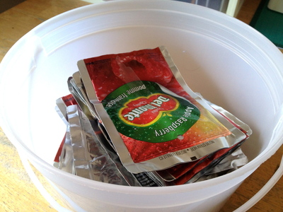 How to make a recycled tote. Juice Pouch Tote - Step 1