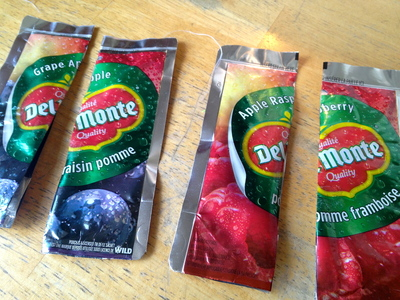 How to make a recycled tote. Juice Pouch Tote - Step 14