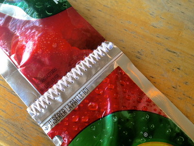 How to make a recycled tote. Juice Pouch Tote - Step 16
