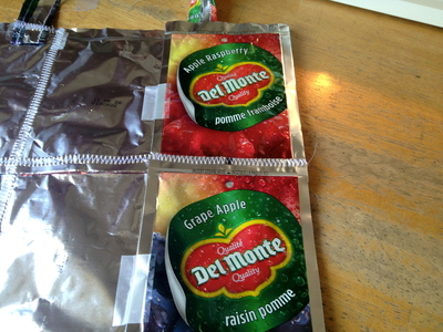 How to make a recycled tote. Juice Pouch Tote - Step 24