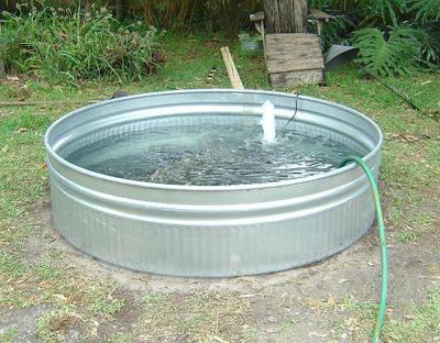 How to make a rock garden. Handmade Bucket Rock Pond Fountain - Step 6