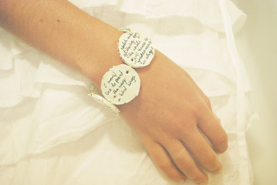 How to sculpt a clay bead bracelet. Clay Quote Bracelet - Step 4