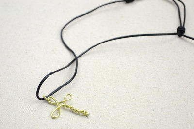 How to make a wire pendant. Metal Jewelry Ideas   Create A Cross Necklace For Girls - Step 4